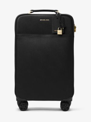 Your ticket to first-class fabulous, this luxe carry-on is crafted from our signature Saffiano leather. 360-spinning wheels and plenty of compartments keep this stylish suitcase in line with the modern day frequent flier.