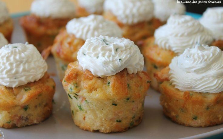 MINI CUPCAKES SAUMON CIBOULETTE ET FROMAGE FRAIS La cuisine des p'tites douceurs - blog