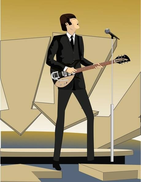 John Lennon, Ed Sullivan Show. Ilustración Digital