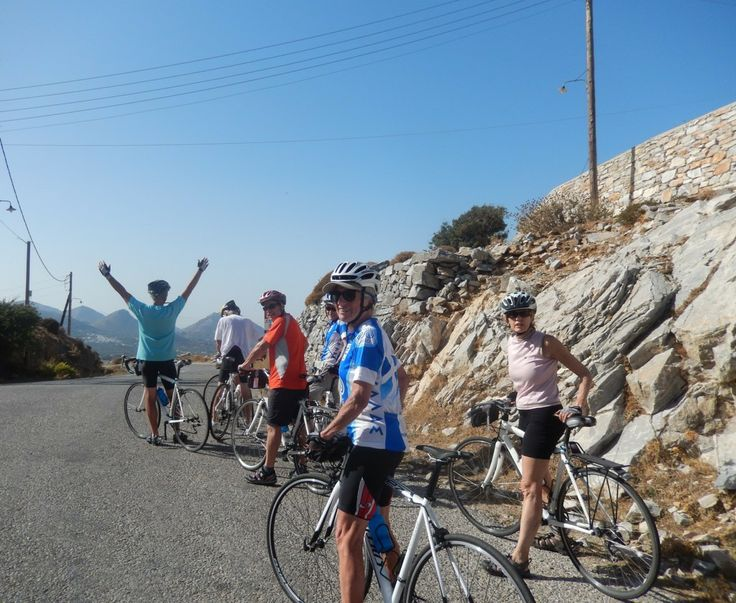 Reaching the top of the hill before the town of Mili 1647 feet and then a 5 km descent to Halki at 1000 feet.