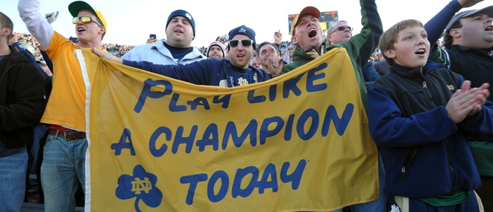 "Go Irish!. Like the Irish?  Be sure to check out and ""LIKE"" my Facebook Page https://www.facebook.com/HereComestheIrish  Please be sure to upload and share any personal pictures of your Notre Dame experience with your fellow Irish fans!"