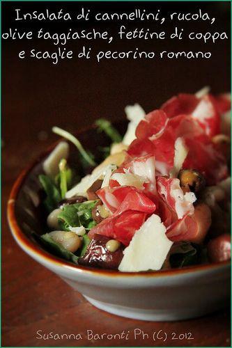 insalata cannellini, rucola, olive, coppa e pecorino