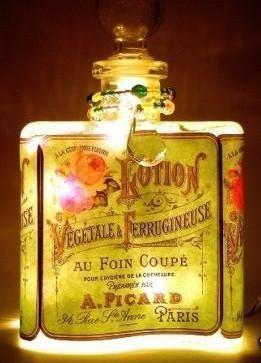 #5 Perfume Bottle Nightlight ( Night Light ) - Roses And Teacups