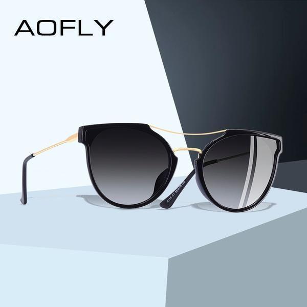 a1fb0606e6d AOFLY BRAND DESIGN Fashion Sexy Cat Eye Polarized Sunglasses Women A116   Discounts  BestPrice