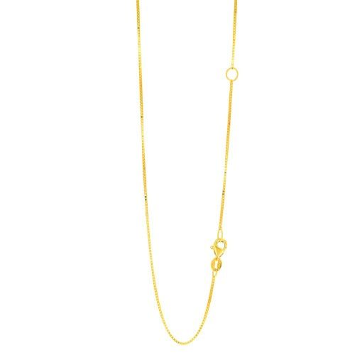 IcedTime 10K Yellow Gold Classic Box Chain 16 inch long