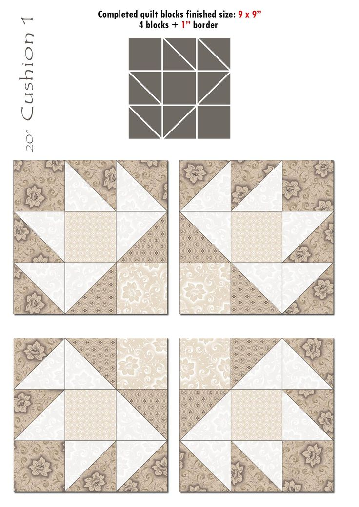2 Iced Tea Collection Quilt blocks 1