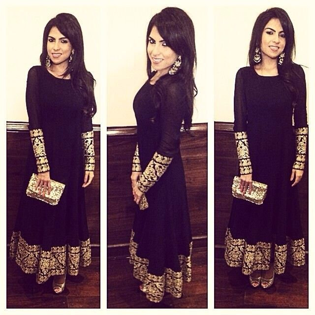 "Simple Black w/ Gold #Anarkali, ""why don't I already have this?!"""