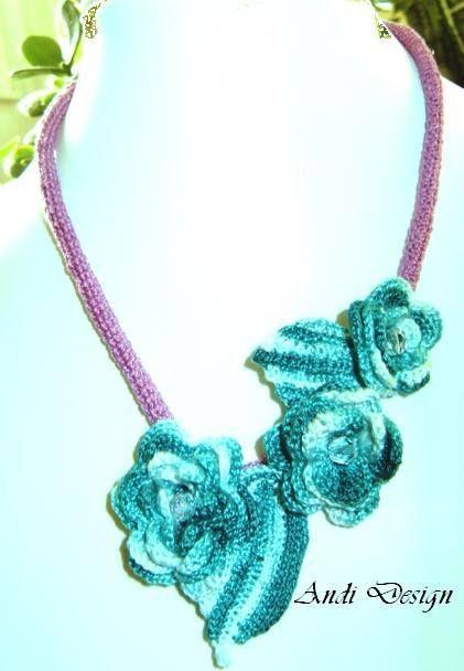 crochet-,  necklace