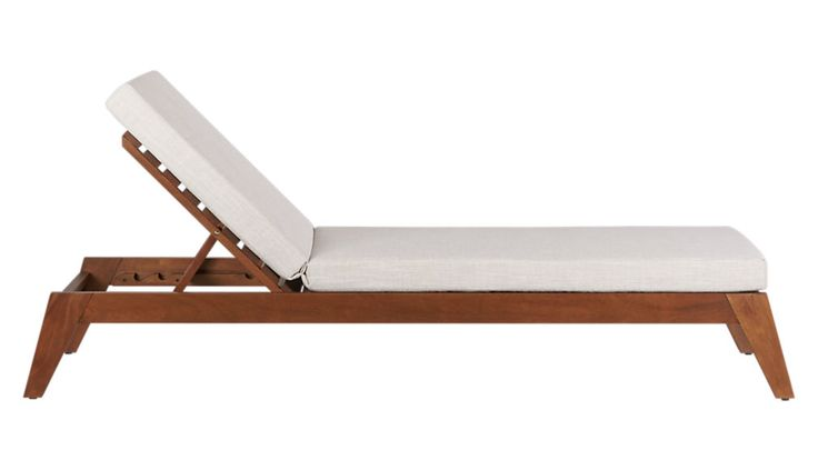 filaki lounger with natural cushion