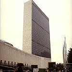 United Nations Headquarters by Le Corbusier, Oscar Niemeyer, Sir Howard Robertson, et al. with Harrison and Abramovitz at GreatBuildings