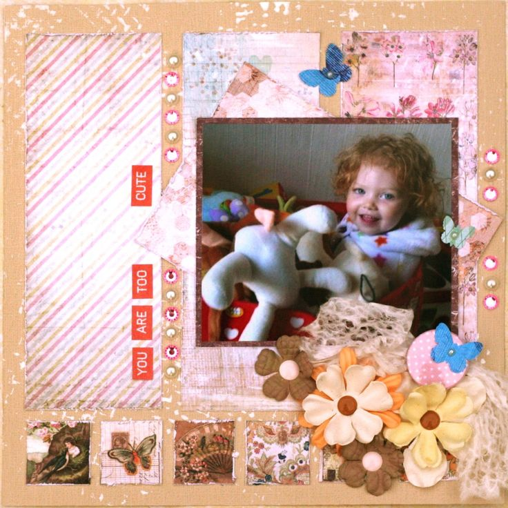 Jannee's Scribbles and Scrappings: Playing a bit with Prima papers
