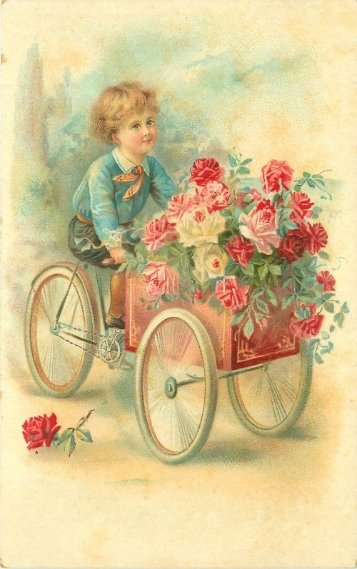 Винтажные открытки - Все окна распахнуты в детство (46 фото)