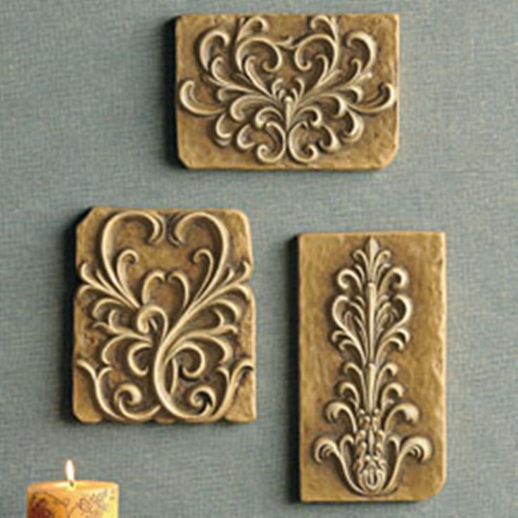 Details About Southern Living @ HOME WH Terra Cotta DECORATIVE WALL ART  PLAQUES TRIO NIB
