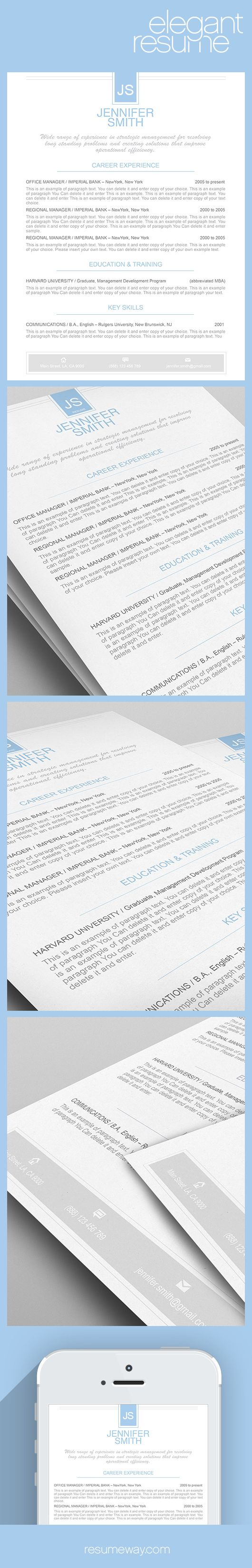 17 best images about cv word templates graphic elegant resume template 110460 premium line of resume cover letter templates easy edit ms word apple pages good idea selected by