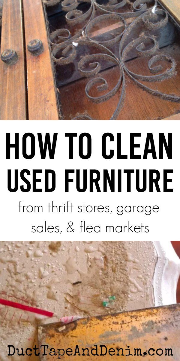 How to Clean Used Furniture from Thrift