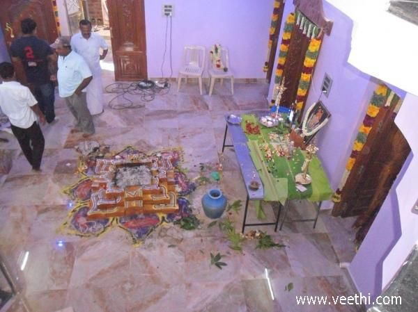 After Ganapathy Homam of House warming ceremony
