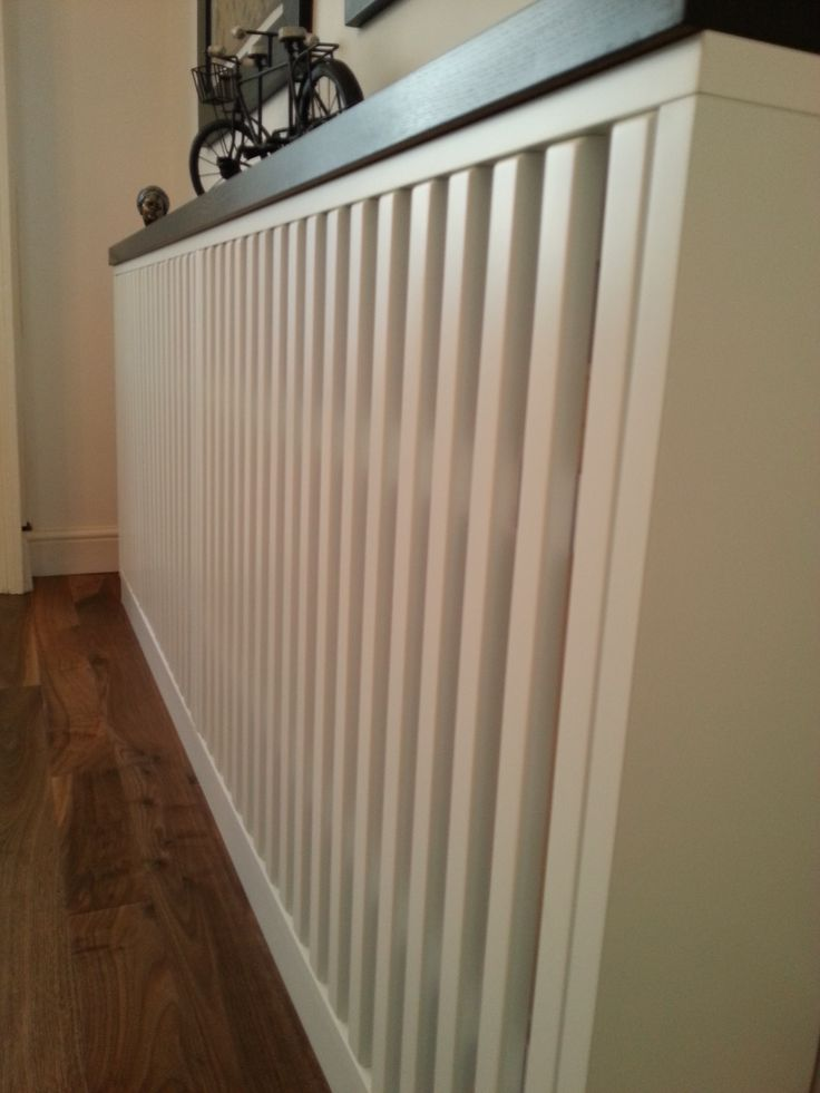 Radiator Cover in Mdf white matt lacquered and solid oak top designed by www.fidenzi.com
