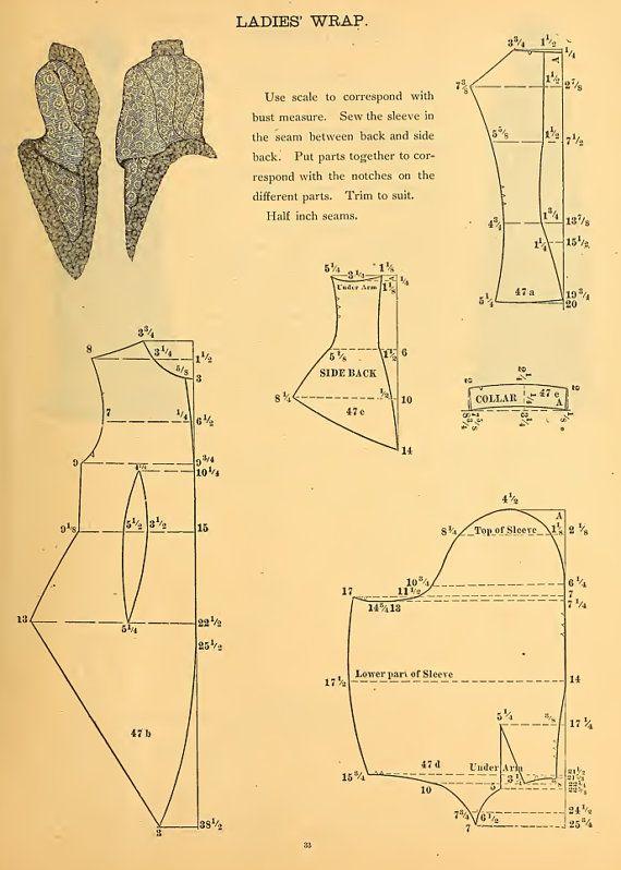 PATRONES 59 victoriano VESTIDO de diseñar su propio por HowToBooks                                                                                                                                                                                 Más