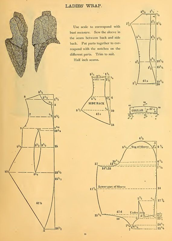 59 VICTORIAN GARMENT PATTERNS Design Your Own by HowToBooks