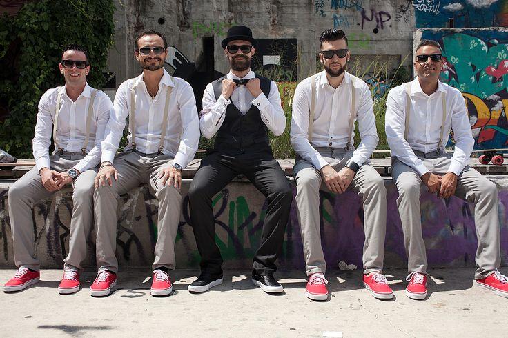 Sugar Bride Blog | Skater Groom  ad Best Men. Vans slip on. Italian rockabilly wedding