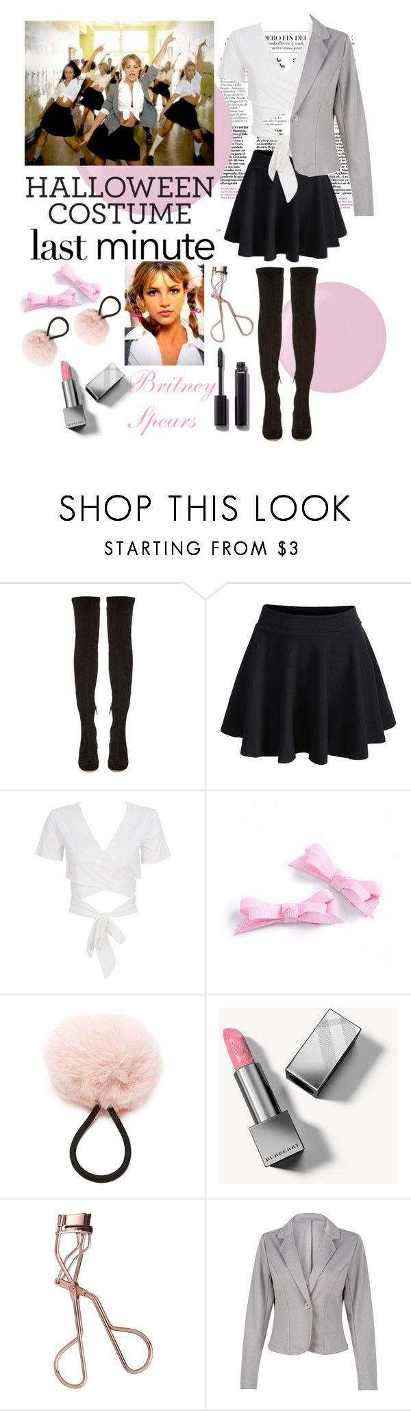 """""""Last Minuite Costume"""" by xonfident ❤ liked on Polyvore featuring Butter London, Nicholas Kirkwood, WithChic, Britney Spears, Forever 21, Burberry, Charlotte Tilbury and Chanel"""