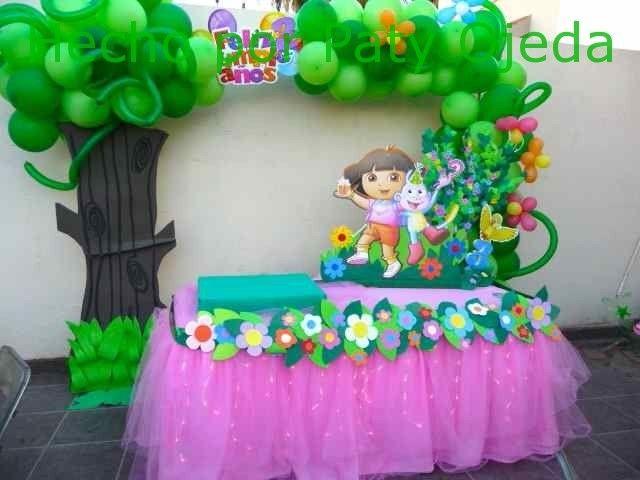 Decoración mesa Dora la exploradora - Imagui