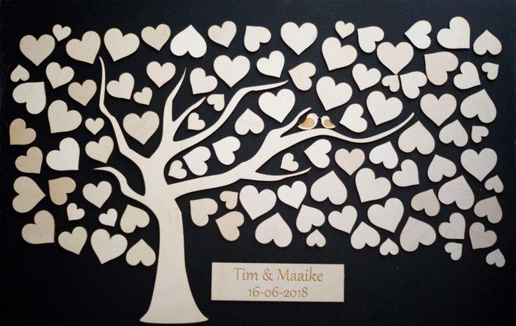 Gastenboek boom met hartjes (diy set) | Gastenboek | Vier de Liefde