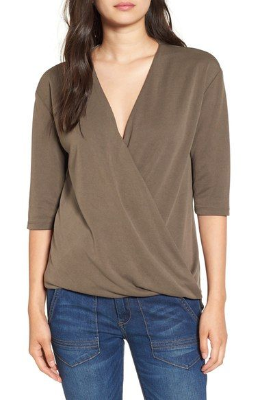 Madison & Berkeley Surplice Top available at #Nordstrom