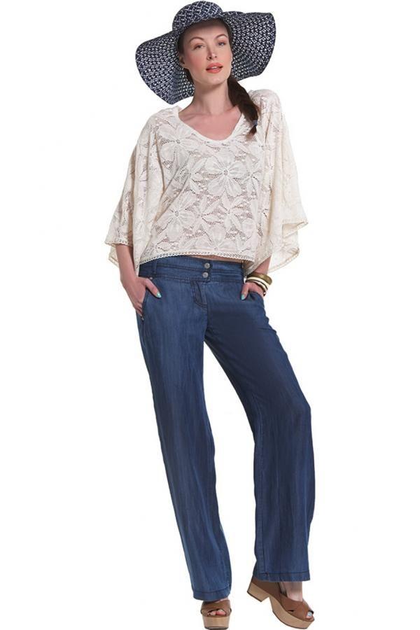 Παντελόνι τζιν σταθερό ψιλό ισόφαρδο με τσέπες εμπρός και διπλά ζωνάκια
