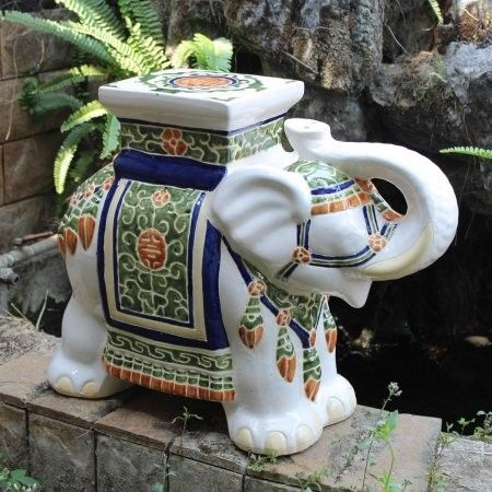 International Caravan Bombay Large Porcelain Elephant 400 x 300