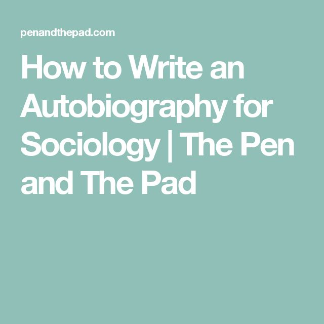 how to write an auto biography An autobiography is a personal document to write the motivation behind it might be to leave your story to your descendants, to entertain your family, or to put on record some unusual achievement or escapade.
