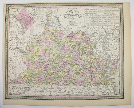 Best 25 Virginia map ideas on Pinterest