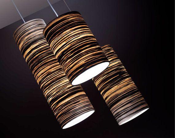 Gratis verzending - hout hanger - Hout plafond licht - hout lamp - fineer lampenkap - hout hanger plafond - aangepaste verlichting