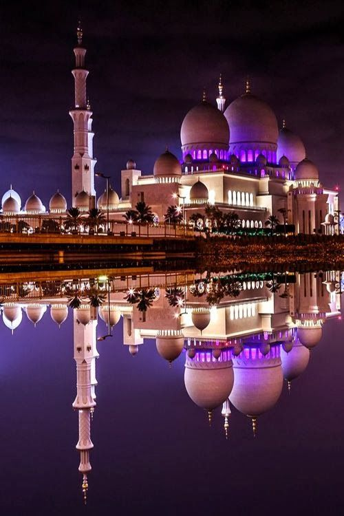 Reflection Sheik Zayed Grand Mosque Abu Dhabi