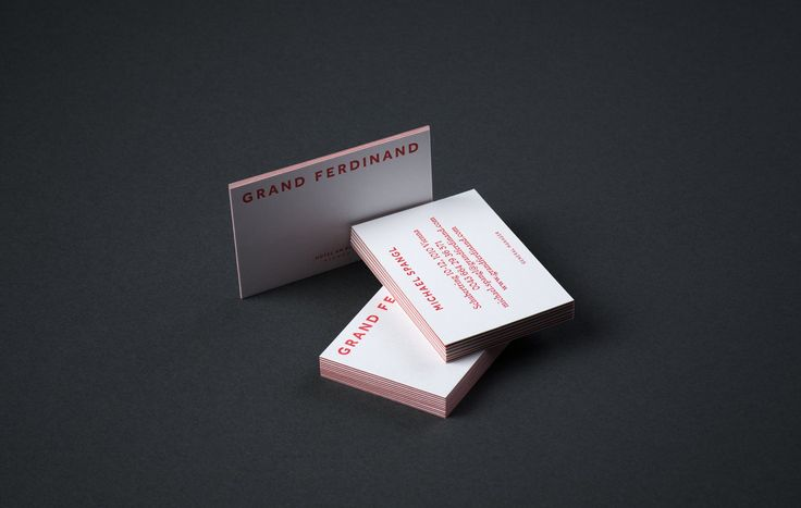Triplex business cards for Vienna