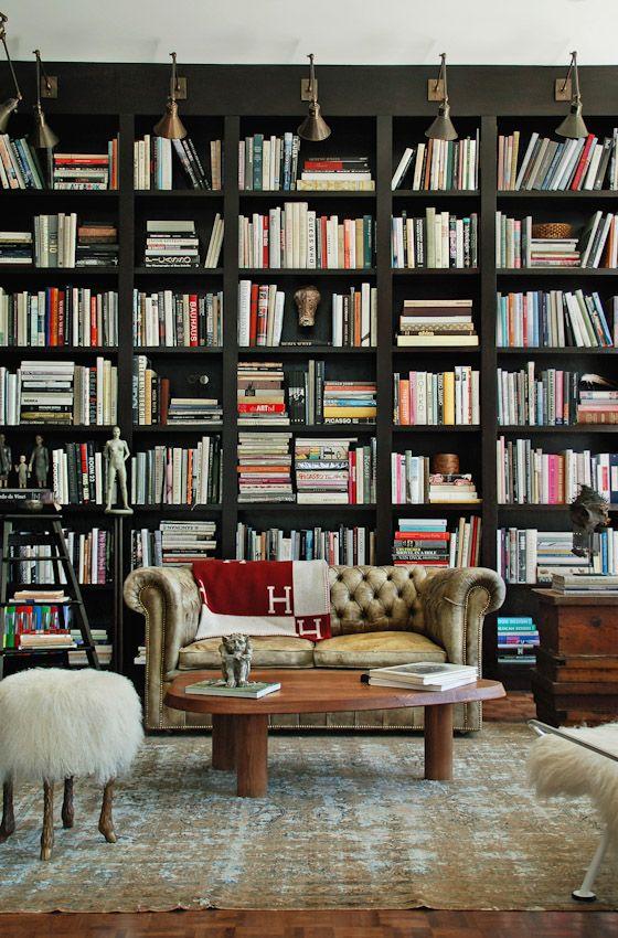 bookcases in mixed width;desire to inspire - desiretoinspire.net