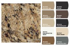 Granite:  Santa Cecilia Gold ColorSnap by Sherwin-Williams – ColorSnap by Terri H.