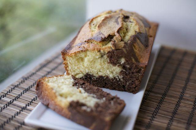 Queque marmol o marmoleado, chocolate-vainilla    En mi cocina hoy