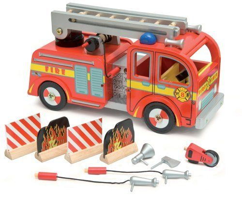 Fire Engine Set by Papo. $59.99. 5.25 in L x 7.75 in W x 14.5 in H. The fire engine comes with an extendable ladder and many accessories as shown. Scaled for Budkins characters sold separately.. Save 14%!