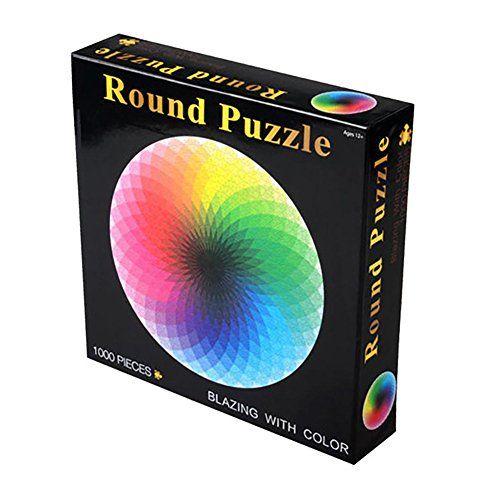 1000pcs Set Bunt Arc En Rond Geometrische Foto Puzzle Erwachsene