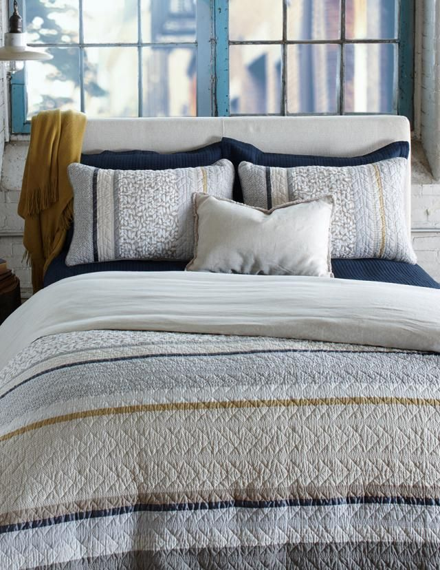 Let yourself be tempted byRiccardoNewQuilt, quilted duvet coverand accessories collectionAvailable at your Brunelli retailer
