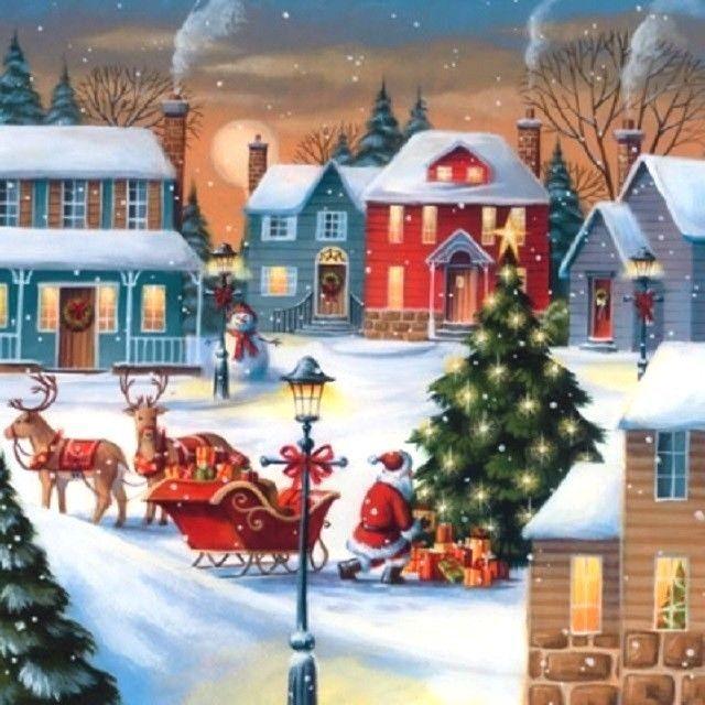Christmas winter,vintage Xmas -X1 4 Single paper decoupage napkins
