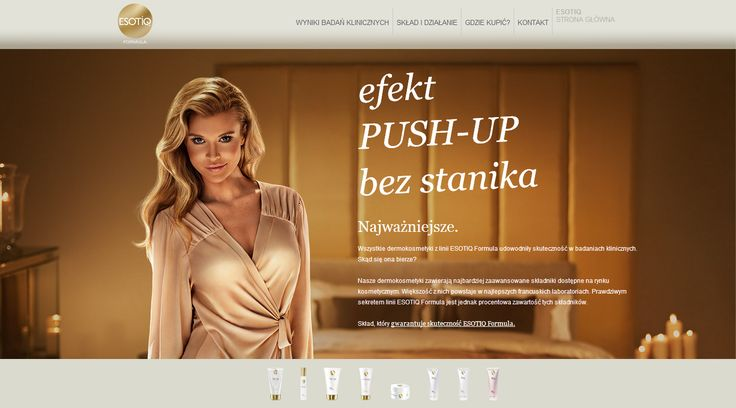 Na podstawie dostarczonej grafiki przygotowaliśmy dla marki Esotiq frontend strony internetowej nowej linii kosmetyków Esotiq Formula. Dla potrzeb strony zaprojektowaliśmy i stworzyliśmy animacje z wykorzystaniem HTML5/JS/CSS3, wykorzystujące, np. rozpoznawanie pozycji suwaka przeglądarki. Projekt realizowaliśmy jako podzlecenie dla Weedo S.A.