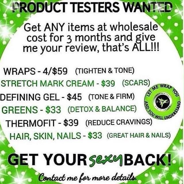 Product testors / models wanted! Visit the website, message me for my discount or more info!
