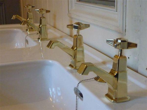 J Delafon Deco Double Basin With Original Art Deco Taps. Condition: Very  Good, Antique Basins/Sinks, Stiffkey Antique Bathrooms