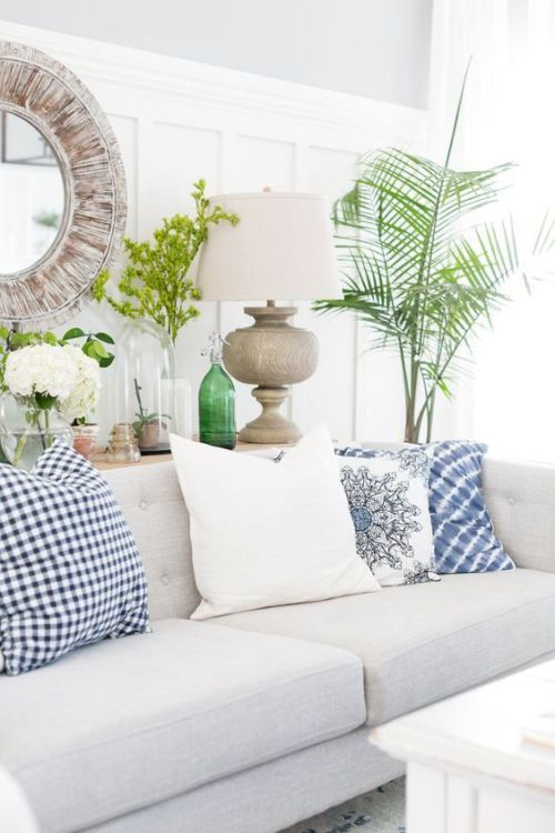 Light colored details in a coastal living