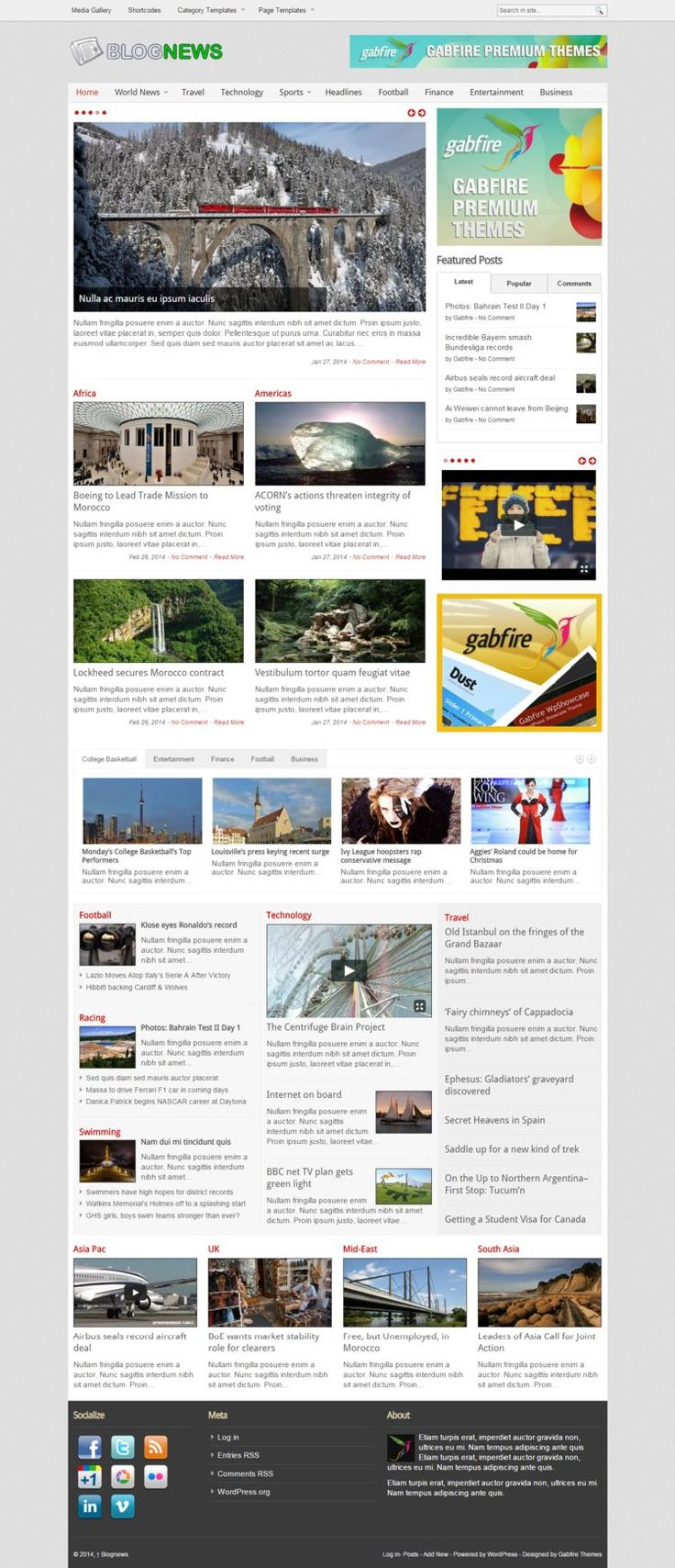 BLOGNEWS #WP #THEME  #WPTheme #WebDesign #Magazine #Gallery #MobilApp | #WPThemeHouse