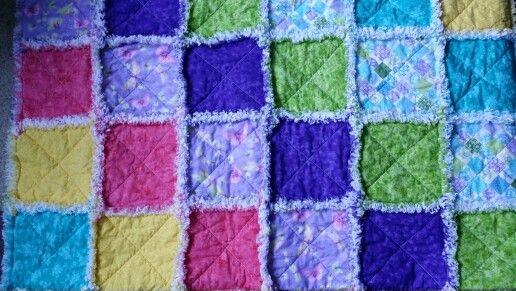 Rag Quilt Color Ideas : Happy colors rag quilt Rag Quilts Pinterest Happy colors, Rag quilt and Quilt