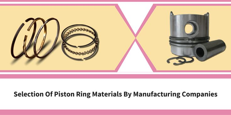 Selection of piston ring materials by manufacturing companies