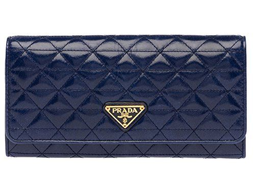 Prada Clutch Wallet Vitello Shine Quilted Leather Blue Navy Bluette - http://bags.bloggor.org/prada-clutch-wallet-vitello-shine-quilted-leather-blue-navy-bluette/